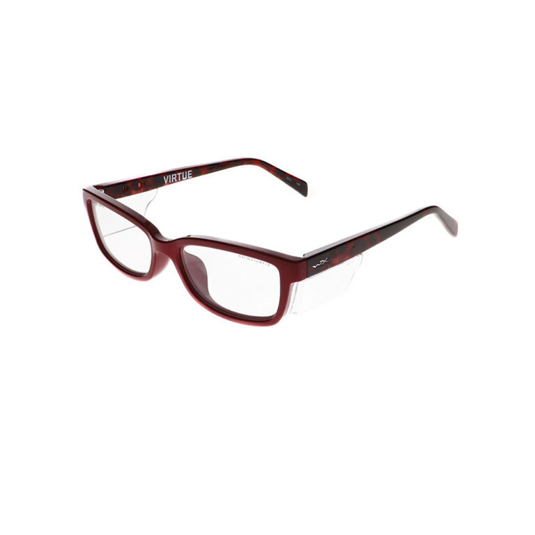 Wiley X Virtue Safety Glasses in Gloss Ruby with Red Demi WX-WSSVRT02
