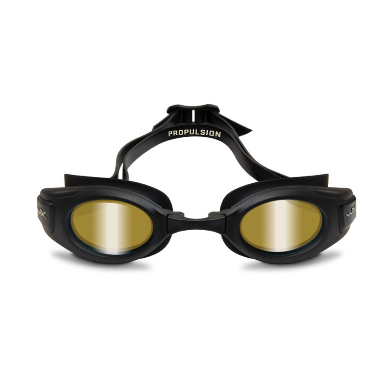 Wiley X Propulsion Swim Goggle in Matte Black with Gold Mirror WX-ACPPL03