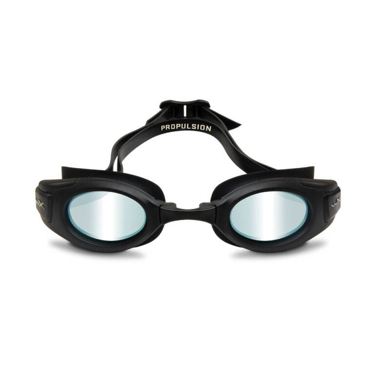 Wiley X Propulsion Swim Goggle in Matte Black with Blue Mirror WX-ACPPL04
