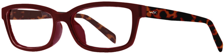 Wiley X Worksight Virtue in Gloss Ruby/Red Remi Frame, Angled Side Left