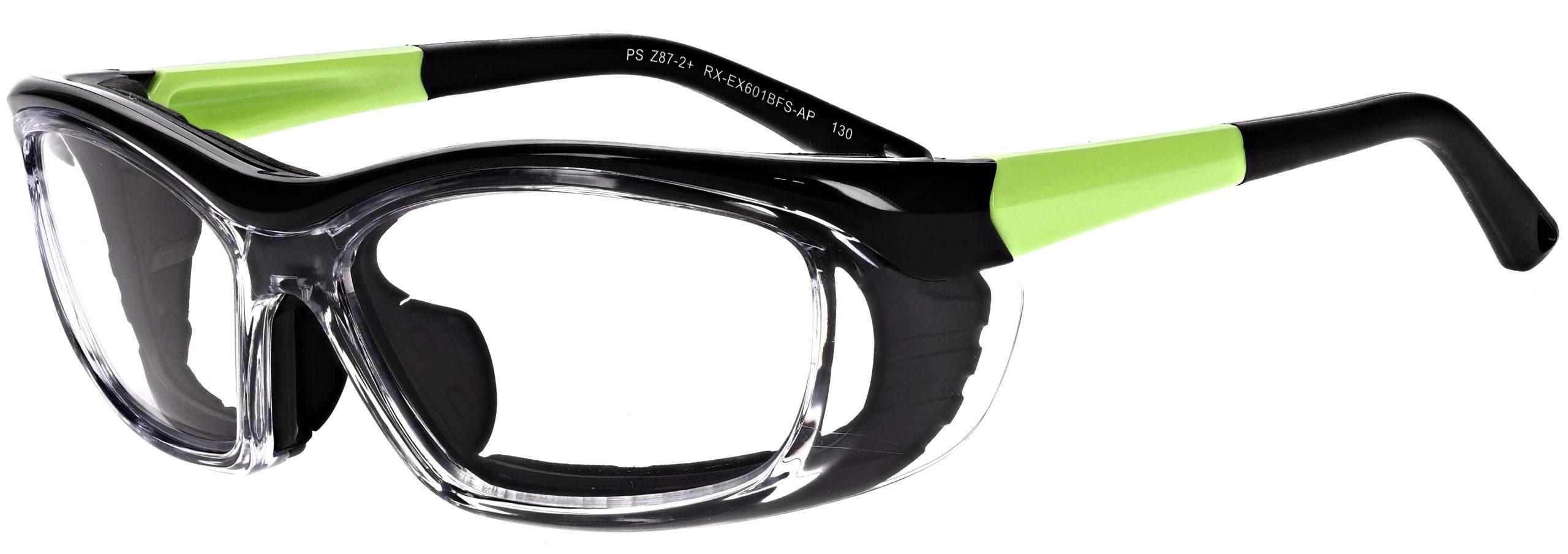 Model RX-EX601 Safety Glasses in Matte Apple Green RX-EX601BFS-AP