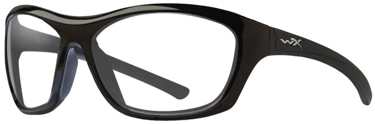 Wiley X Glory in Gloss Black Frame, Angled to the Side Left