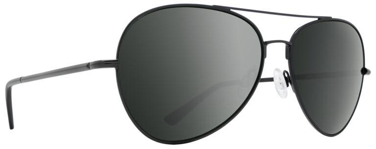 Spy Blackburn Prescription Sunglasses in Black with HD Plus Gray Green With Black Spectra Mirror Lens SPY-BLACKBURN-BKGG