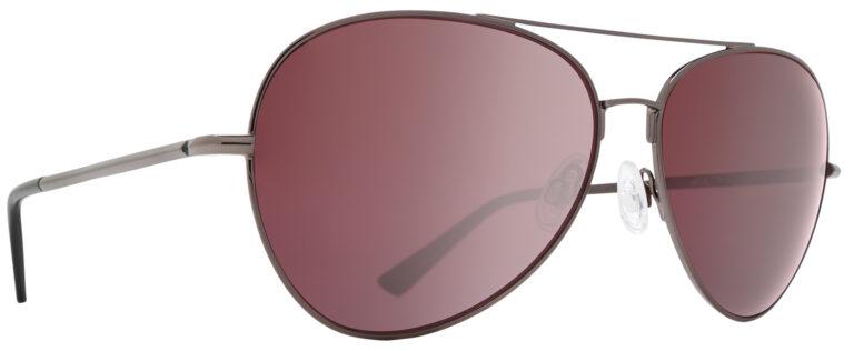 Spy Blackburn Prescription Sunglasses in Gunmetal with HD Plus Rose Polarized with Silver Spectra Mirror Lens SPY-BLACKBURN-GMRPS