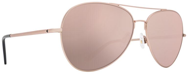 Spy Blackburn Prescription Sunglasses in Matte Rose Gold with HD Plus Gray Green with Rose Quartz Spectra Mirror Lens SPY-BLACKBURN-MRGGG
