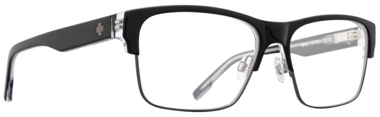 Spy Brody 50/50 Eyeglasses in Black Clear Gunmetal SPY-BRODY5050-BKGM