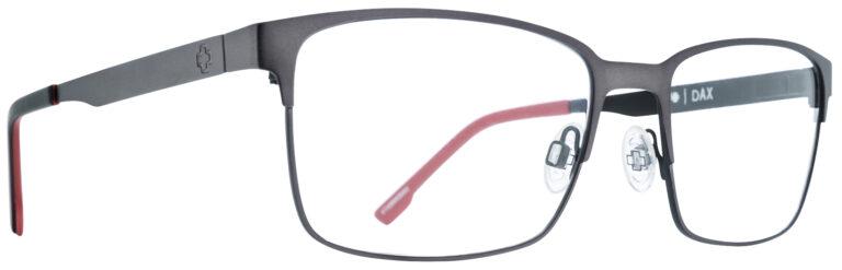 Spy Dax Eyeglasses in Gunmetal/Black Red SPY-DAX-GBKR