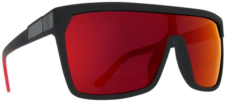 Spy Flynn Sunglasses in Soft Matte Black Red Fade SPY-FLYNN-SMBKR