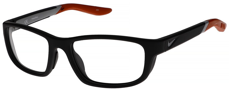 Nike 5044 Plastic Prescription Glasses in Matte Black/University Red NI-5044-007