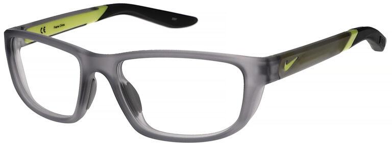 Nike 5044 Plastic Prescription Glasses in Matte Wolf Grey/Dark Grey NI-5044-062