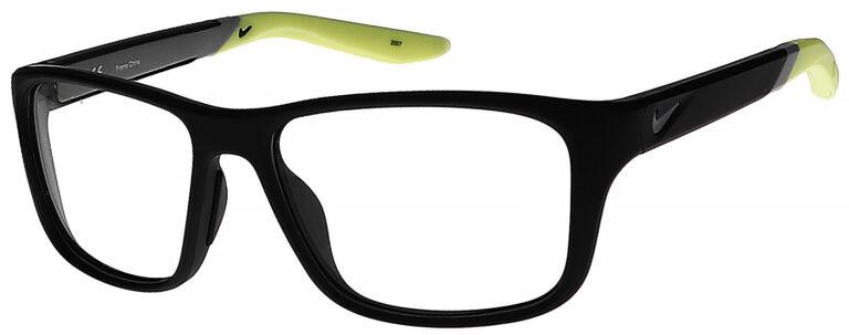 Nike 5045 Plastic Prescription Glasses in Matte Black/Volt NI-5045-004