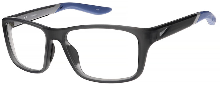 Nike 5045 Plastic Prescription Glasses in Matte Dark Grey/Royal Pulse NI-5045-066