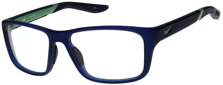 Nike 5045 Plastic Prescription Glasses in Matte Midnight Navy/Green NI-5045-403