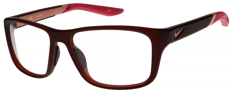 Nike 5045 Plastic Prescription Glasses in Matte Dark Beetroot/Hyper Pink NI-5045-607