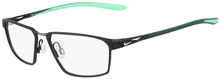 Nike 4310 005 Satin Black Electro Green Frame Satin Black Electro Green Lens Angled Side Left