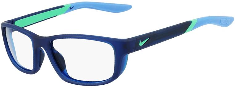 Nike 5044 405 Matte Midnight Navy Royl Pulse Frame Matte Midnight Navy Royl Pulse Lens Angled Side Left