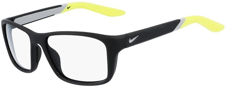 Nike 5045 004 Matte Black Volt Frame Matte Black Volt Lens Angled Side Left