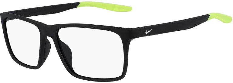 Nike 7116 007 Matte Black Volt Frame Matte Black Volt Lens Angled Side Left