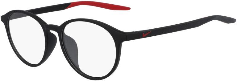 Nike 7264AF 006 Matte Black Gym Red Frame Matte Black Gym Red Lens Angled Side Left