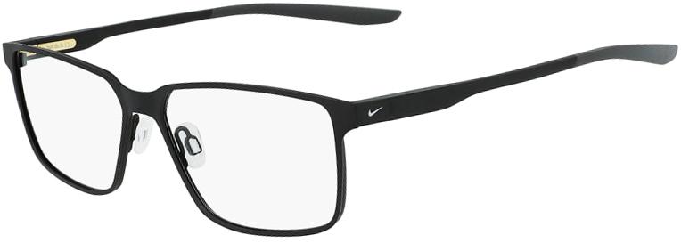 Nike 8048 003 Satin Black Dark Grey Frame Satin Black Dark Grey Lens Angled Side Left