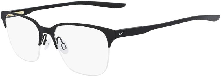 Nike 8049 002 Satin Black Black Frame Satin Black Black Lens Angled Side Left