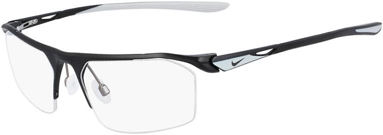 Nike 8050 003 Satin Black Wolf Grey Frame Satin Black Wolf Grey Lens Angled Side Left
