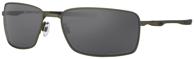 Oakley Square Wire Eyeglasses in Carbon with Grey Polarized Lenses