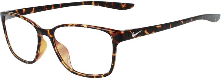 Nike 7027 242 Tortoise Frame Tortoise Lens Angled Side Left