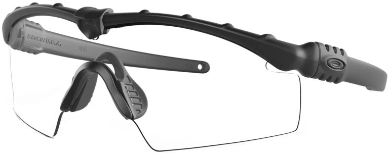 Oakley Industrial M-Frame ® 3.0 PPE In Black with Clear Lenses, Angled to the Side Left
