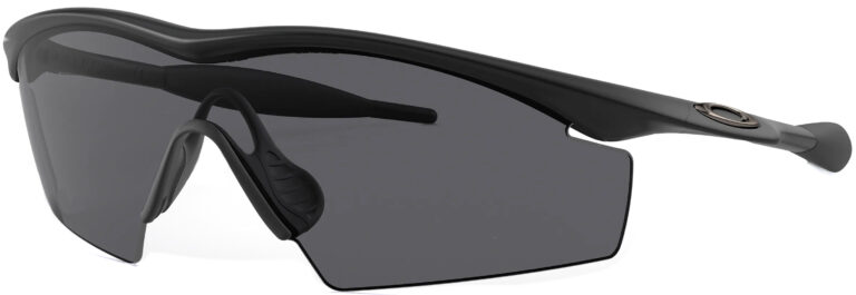Oakley M Frame® in Black with Grey Lenses, angled to the Side Left