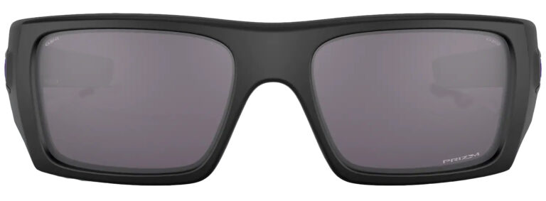 Oakley Standard Issue Det Cord™ Infinite Hero™ in Matte Black with Prizm Grey Lenses from the Infinite Hero Collection, angled to the side front