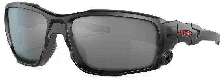 Standard Issue Ballistic Shocktube™ in Matte Black with Black Iridium Lenses, Angled to the Side Left