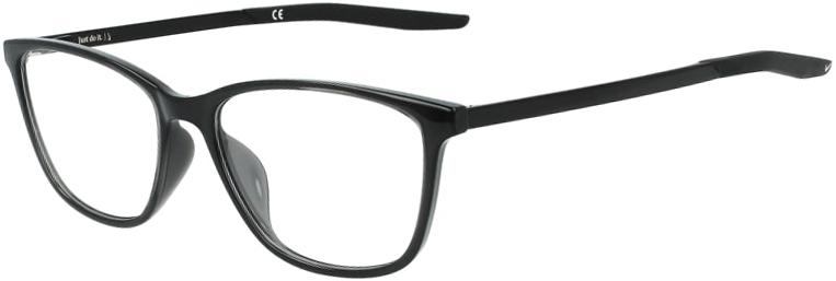 Nike 7284 001 Black Black Frame Black Black Lens Angled Side Left