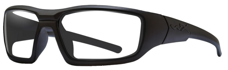 Wiley X Censor in Matte Black Frame, Angled to the Side Left