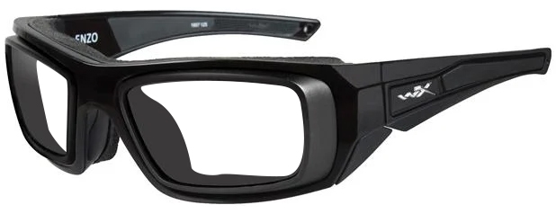 Wiley X Enzo with RX Rim in Matte Black Frame with Clear Lenses, WX-CCENZ03