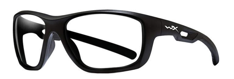 Wiley X Aspect Matte Black Frame, Angled Side Left