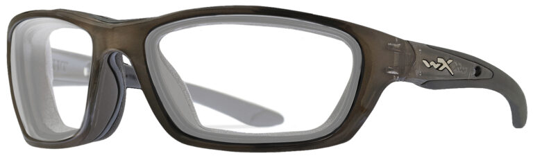 Wiley X Brick Sunglasses Crystal Metallic Frame, Angled to the side Left