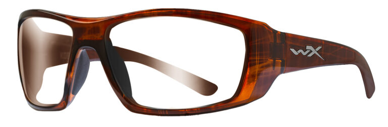 Wiley X Kobe in Hickory Brown Frame Angled to the Side Left