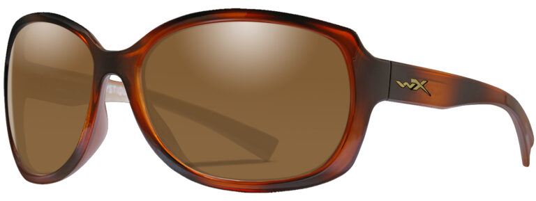 Wiley X Mystique in Gloss Demi Frame with Brown Lens, Angled to the Side Left