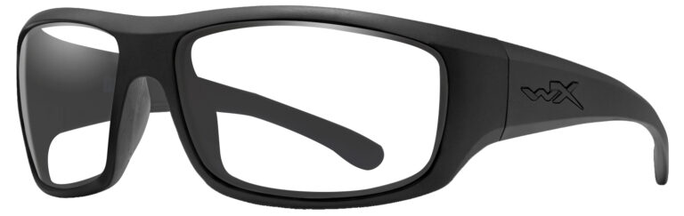 Wiley X Omega Matte Black Frame, Angled Size Left