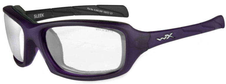 Wiley X Sleek Matte Violet Frame Angled Side Left