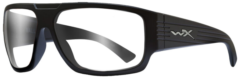Wiley X Vallus in Matte Black Frame, Angled to the Side Left