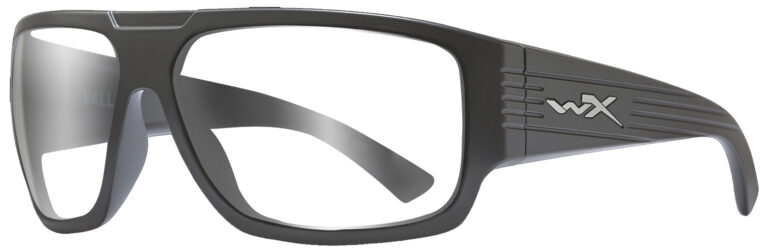 Wiley X Vallus in Matte Graphite Frame, Angled to the Side Left