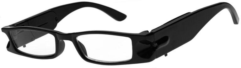 Lighted Reading Glasses, Black Frame