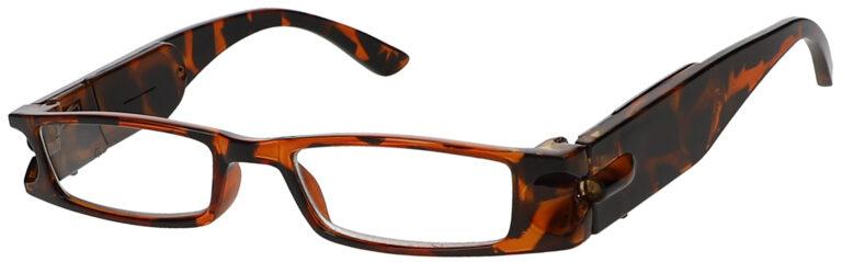 Lighted Reading Glasses, Tortoise Frame