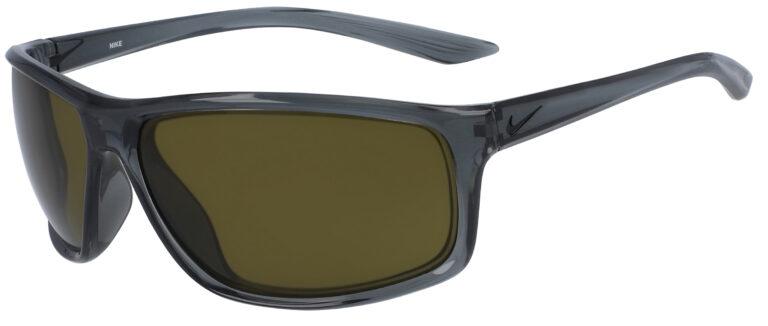 Nike Adrenaline E in Dark Grey Black Frame with Terrain Tint Lenses, Angled Side Left