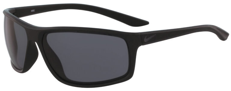 Nike Adrenaline in Matte Black Anthracite Frame with Dark Gray Lens Angled to the Left Side