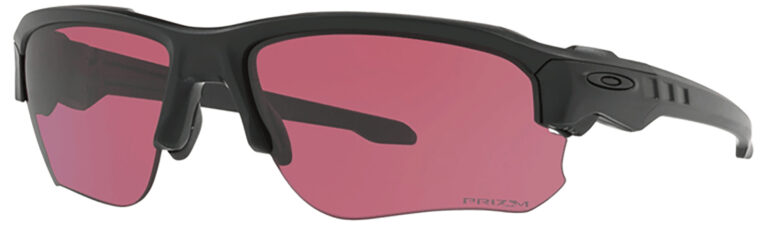 Oakley Standard Issue Speed Jacket in Matte Black Frame with Prism TR-22 Lens, Angled to the Side Left