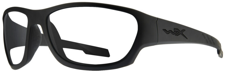 Wiley X Climb in Matte Black Frame, Angled to the Left Side