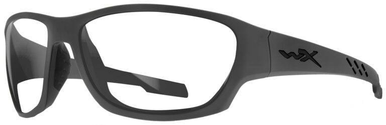 Wiley X Climb in Matte Gray Frame, Angled to the Left Side